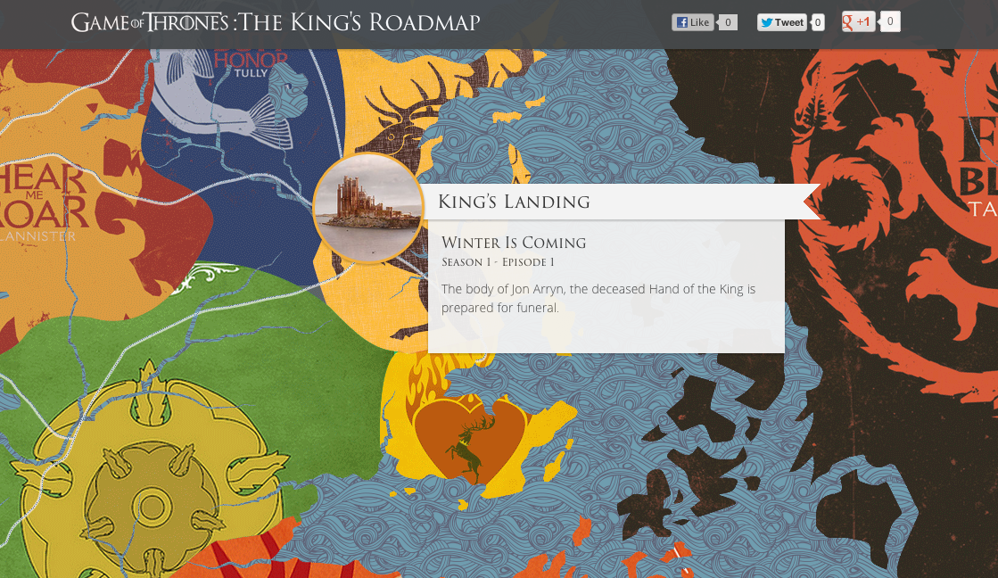 Game of Thonres Interactive Map